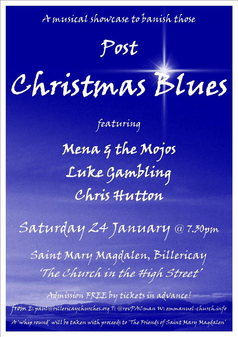 live at st marys post christmas blues - Post Christmas Blues