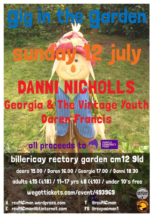 Gig in the Garden 2020 Poster